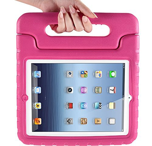 Eastchina® New Fashion Style Super Light Weight Cute Kid Child Shock Proof EVA Foam Handle Stand Super Protection Convertible Protective Cover Case for Apple Ipad Mini 1 | Ipad Mini 2 | Ipad Mini 3 (A-pink)