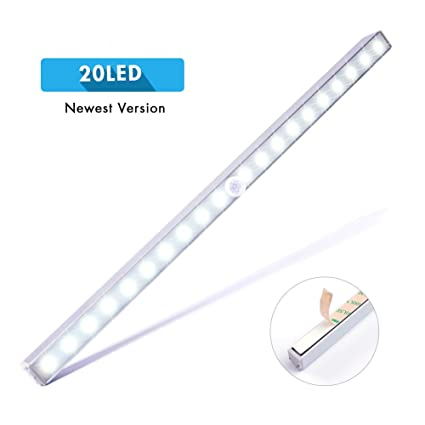 Superb LED Closet Light, Cshidworld Wireless Stick Anywhere Motion Sensor 20 LED  Under Cabinet Lights
