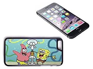 iPhone 6 Plus Black Plastic Hard Case with High Gloss Printed Insert Sponge Bob