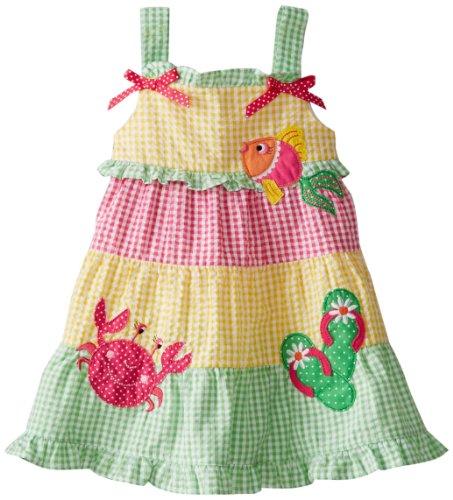 Good Lad Baby Girls' Seersucker Popover Sundress, Yellow, 12 Months