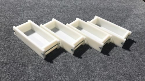 Lot of 4 HDPE Soap Loaf Making Mold 2 - 3 lb per mold CP MP HP Oven Safe by GDD