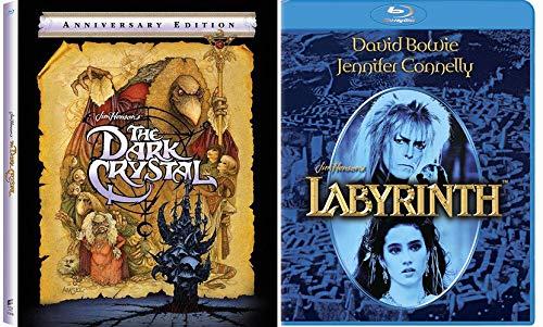 Henson Dark Imaginative Classics: Labyrinth (Blu-Ray) + Dark Crystal Limited Edition Anniversary Edition Blu-Ray with Digibook (Blu-Ray) Bundle