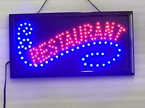 UPSUN Neon Sign Open,LED Business Open Sign Advertisement Board Electric Display Sign, Two Modes Flashing & Steady Light, for Business, Walls, Window, Shop, bar, Hotel(Restaurant)