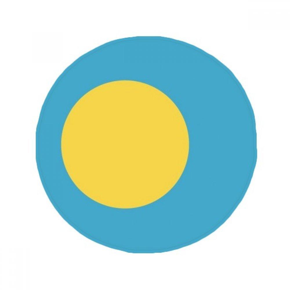 60X60cm DIYthinker Palau National Flag Oceania Country Symbol Anti-Slip Floor Pet Mat Round Bathroom Living Room Kitchen Door 60 50Cm Gift