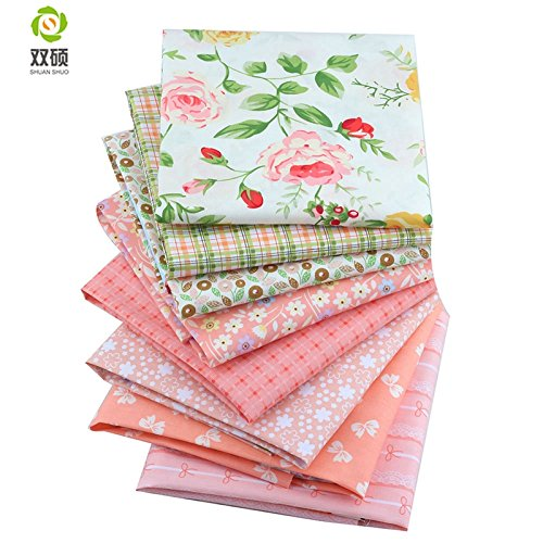 ShuanShuo New Series Cotton Fabric Quilting Patchwork Fabric Fat Quarter Bundles Fabric for Sewing DIY Crafts Handmade Bags 40X50cm 8 pcs/lot by Shuan shuo