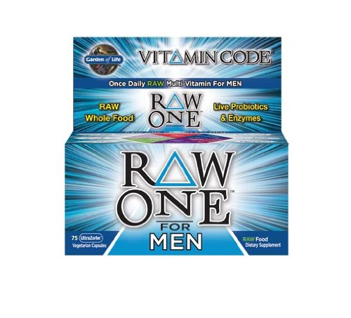 Garden of Life Vitamin Code Raw One for Men Nutritional Supplement, 75 Count