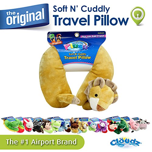 Lion 8' Plush (Cloudz Plush Animal Neck Pillows - Lion)