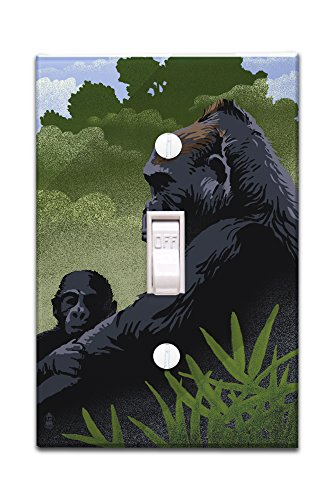 Lowland Gorilla Switchplate Cover