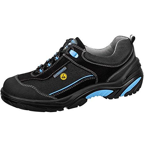 Abeba Crawler Chaussure de sécurité bas ESD Taille 47 Noir/Bleu