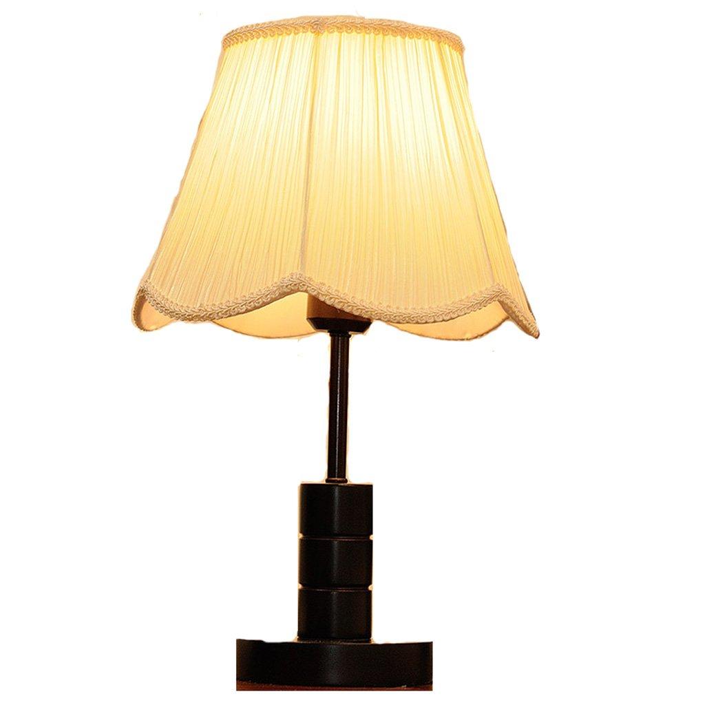 LEGELY Lámpara de mesa de madera de literaria, beige, lámpara de la sala de madera estar del dormitorio del hotel luces de la decoración, lámpara de mesa moderna nórdica del estilo minimalista, E27, paño plisado 8b1931