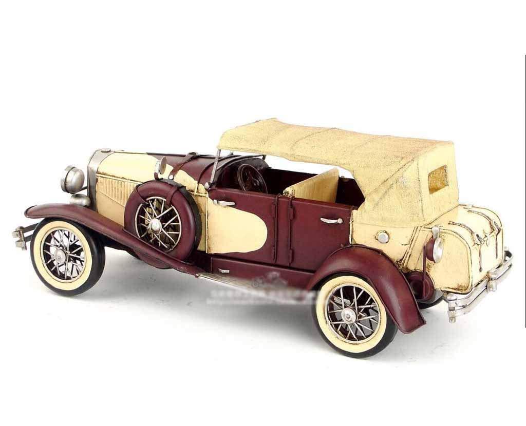 HURONG168 Autos Fahrzeuge Spielzeug Vintage handgefertigte Eisen Oldtimer Modell 1934 Amerikanische Dusenberg J-Klasse Klassische Autofensterdekoration   Junge Spielzeugmodell   Erwachsene metall spie
