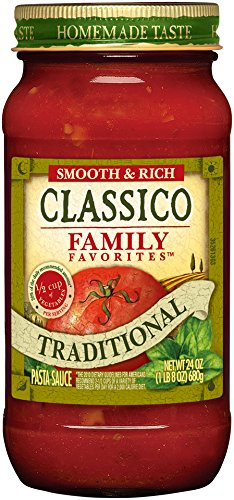 Classico Family Favorite Traditional Tomato Sauce, 24 Ounce Homemade Tomato Sauce