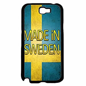 Made in Sweden Plastic Phone Case Back Cover Samsung Galaxy Note II 2 N7100