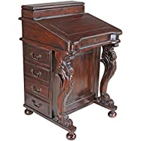 Design Toscano The Captains Davenport Roll Top Desk