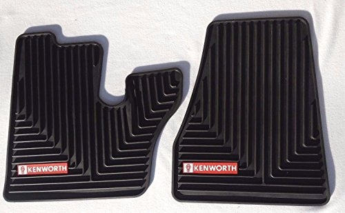 Kenworth T600 660 W900 C500 OEM Black Rubber Floor Mats w/Red Logo Fits 2005-2017