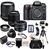 Nikon D7000 16.2MP DX-Format CMOS Digital SLR with 3.0-Inch LCD with Nikon 18-105mm ED VR AF-S DX Nikkor Autofocus Lens and Nikon Normal AF Nikkor 50mm f/1.8D Autofocus Lens and Nikon AF-S DX VR Zoom-Nikkor 55-200mm f/4-5.6G IF-ED Lens with SSE Pro Series 16GB Accessory Package: Including 3 Extra Lenses, 16GB SDHC Card, Deluxe Carrying Case, Tripod and much much more…, Best Gadgets