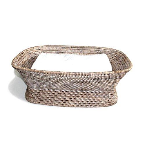 Saffron Trading Company Fruit Basket Pedestal Rectangular - White ()