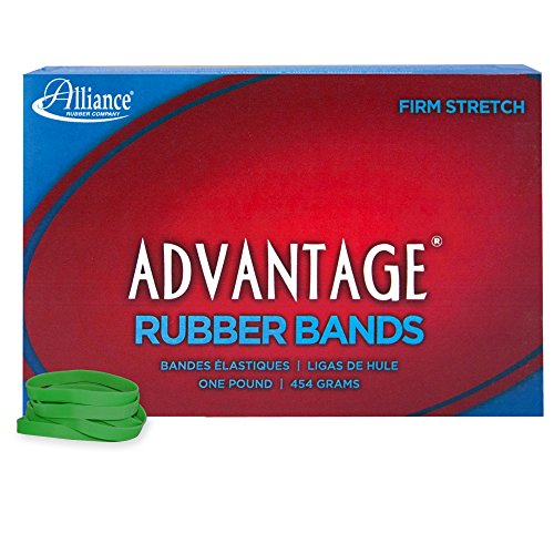 Alliance Rubber 66625 Advantage Rubber Bands Size #62, 1 lb Box Contains Approx. 450 Bands (2 1/2 x 1/4, Green)