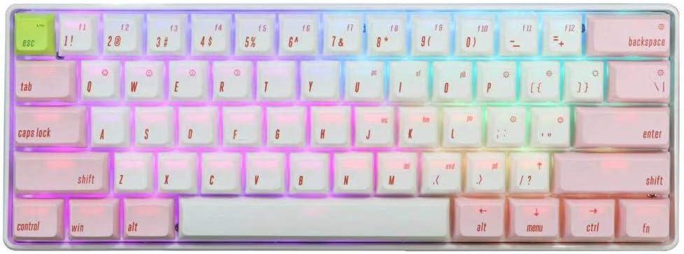 SK61 Bluetooth 5.1 NKRO Gateron Optical Axis RGB Backlight Wireless Wired Dual Mode Mechanical Gaming Keyboard (61 Keys, Gateron Blue)