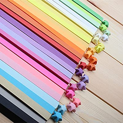 BUYBUYMALL Origami Stars Papers Package 25 Colors One Package