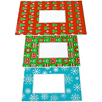 Poly Mailers Holiday Combo Pack - 10 each: 8.5x12 Snowflakes, 10x13 Ornaments, 14.5x19 Christmas Tree - Writable Surface