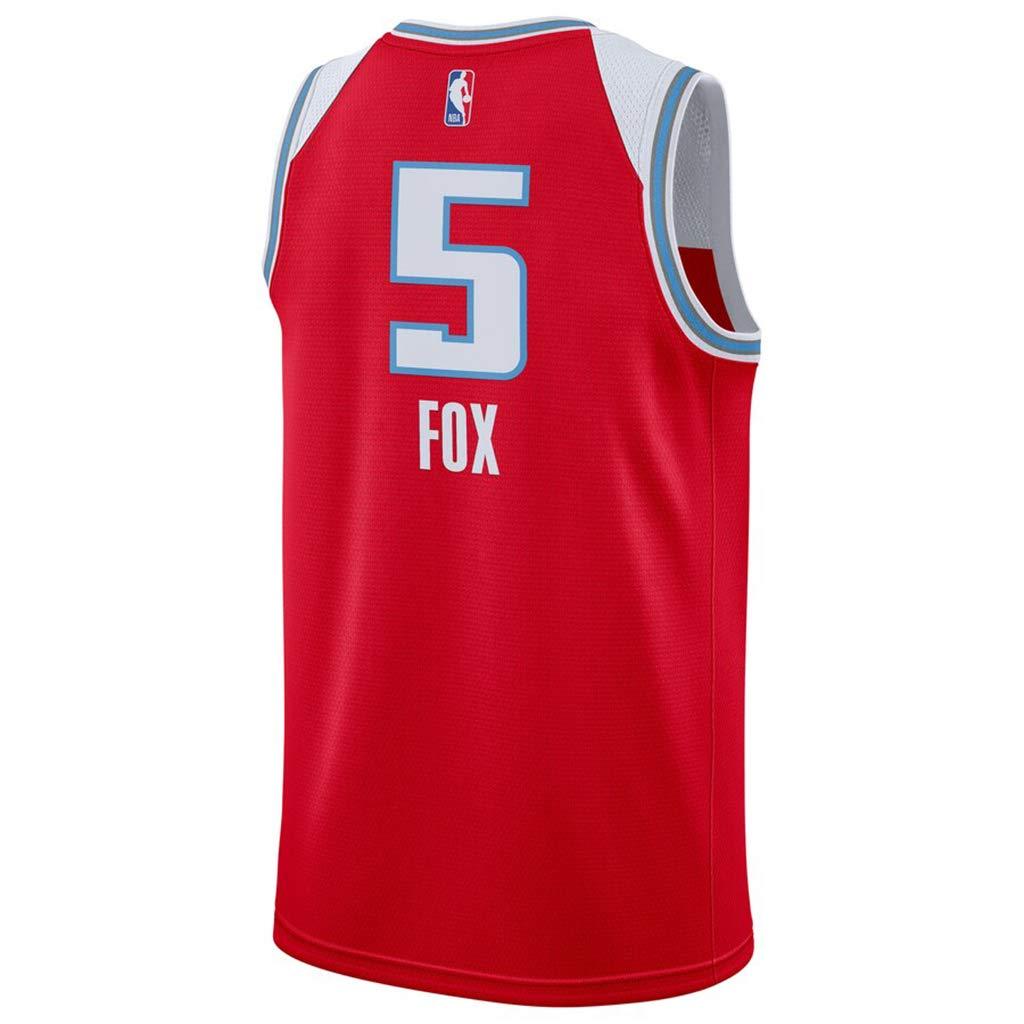 Sacramento Kings #5 DeAaron Fox 2019 Mens Swingman Jersey Red City Edition