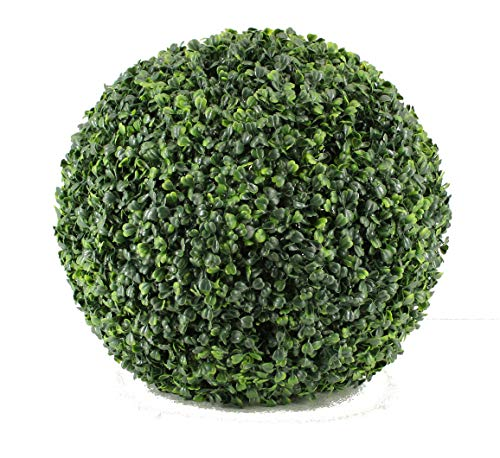 (Boxwood Topiary Ball - Artificial Topiary Plant - Wedding Decor - Indoor/Outdoor Artificial Plant Ball - Topiary Tree Substitute(10
