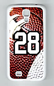 Football Sports Fan Player Number 28 White Plastic Decorative Samsung Galaxy S5 Case