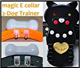 The 3rd Gen Groovypets Rechargeable Remote Control Dog Training Shock Collar Model Magic E collar® MEC-1 with Separate Shock and Vibration Corrections and Bark Control/Anti-Bark for 2 Small,Medium, and Large Dogs, My Pet Supplies