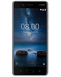 "Nokia 8 (TA-1052) 64GB - Dual SIM [Android 7.1.1, 5.3"" IPS LCD, Snapdragon 835 , Dual 13.0MP, Dust and Splash Resistant] (Steel)"