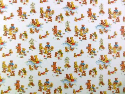 Dolls House Miniature Print 1:12 Scale Nursery Wallpaper Teddy Bears Picnic by Melody Jane Dolls Houses