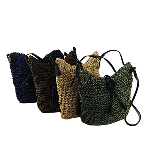 Shaped Woven Shoulder Knitted White New Bags Women Crossbody Bag Straw Square Lining wqFEZ
