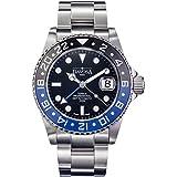 Davosa Swiss Automatic Watch for Men - Ternos Illuminated Analog Display Watch with GMT Dual Time, Stylish Wristband & Ceramic Bezel (16157145)