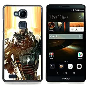 "Qstar Arte & diseño plástico duro Fundas Cover Cubre Hard Case Cover para HUAWEI Ascend MATE 7 (Fall0out Soldado"")"