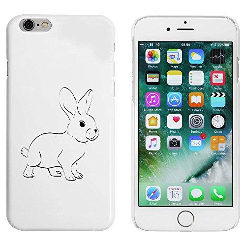Weiß 'Süßer Hase' Hülle für iPhone 6 u. 6s (MC00090439)