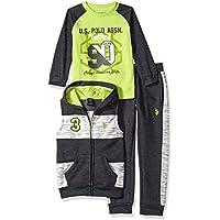 U.S. Polo Assn. Boys' T-Shirt, Vest and Pant Set