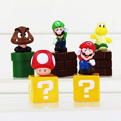 Super Mario Brothers Luigi 5 figuras de juguete decoración ...