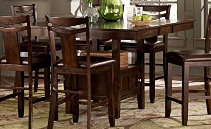 Charmant Weston Home Broome Expandable Storage Counter Height Dining Table   Dark