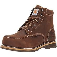 Carhartt Men's 6-Inch Brown Lug Bottom Moc work boot - Steel Toe