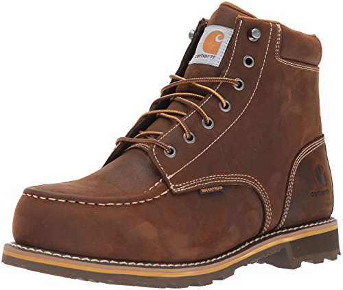 "Carhartt Men's 6"" CMW6297 Leather Waterproof Breathable Lug Bottom Steel Toe Work Boot, Dark Bison Oil Tanned, 10.5 M US10.5 M US"