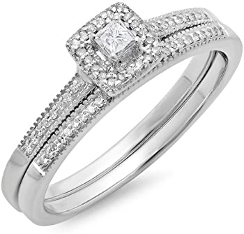 1/4ct Diamond Bridal Set