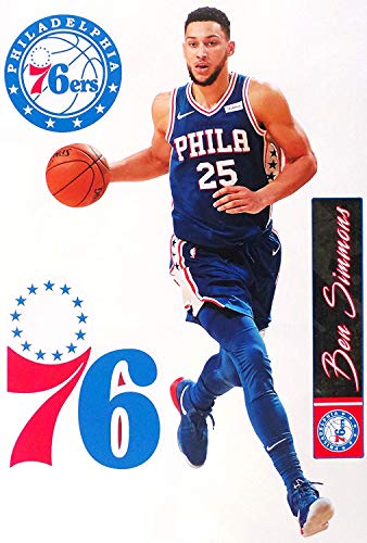 Philadelphia 76ers Logo Wall - FATHEAD Ben Simmons Philadelphia 76ers Logo Set Official NBA Vinyl Wall Graphics 17