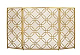 Deco 79 50383 Wonderful Metal Fire Screen, 53'' W x 31'' H