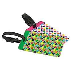 Travelon Dots Set Of 2 Luggage Tags, Assorted, One Size