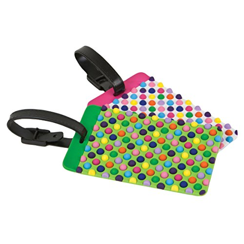 Travelon Set of 2 Luggage Tags, dots ()