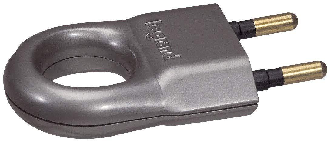 Legrand LEG50164 Fiche m/âle sans terre avec anneau dextraction 6 A Bronze