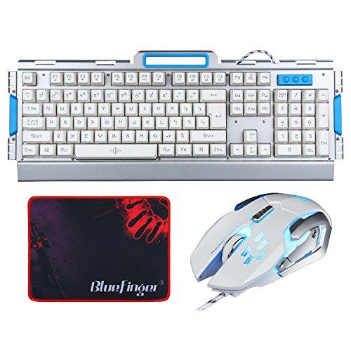 BlueFinger Keyboard Rainbow Backlit Ajustable product image