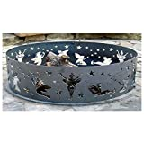PD Metals Steel Campfire Fire Ring Fairy Design - Unpainted - Extra Large 60 d x 12 h Plus Free eGuide