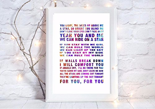 Take That Rule The World Song Lyrics First Dance A4 Glossy Print Poster UNFRAMED Picture Amazoncouk Kitchen Home