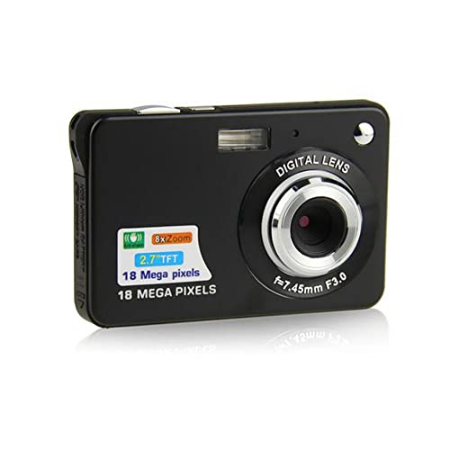 ZOOMK Camera Kids Camera Digital Camera - 2.7 inch 18 MP Digital Cameras for Family,Friends,School,Students,Holiday ( Black)